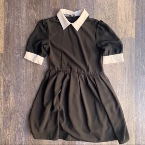 Wednesday Adams mini babydoll dress Halloween